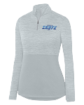 Ladies Shadow Tonal Heather 1/4-Zip Pullover